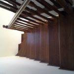Placare scara fag baituita culoare nuc cu balustrada la rotund 10